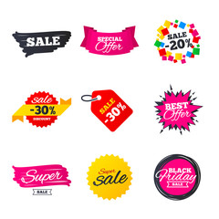 Sale banners templates. Best offers, discounts.