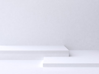 white scene abstract background 3d rendering Wall mural