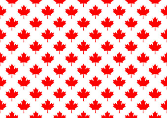 Red maple canada seamless pattern.