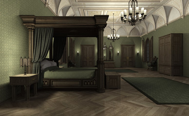 3D Rendering Dark Palace