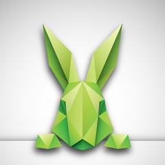 Obraz królik origami wektor - fototapety do salonu