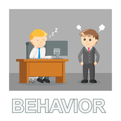 Businessman behavior photo text style