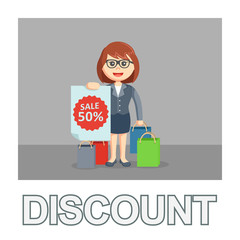Businesswoman discount photo text style