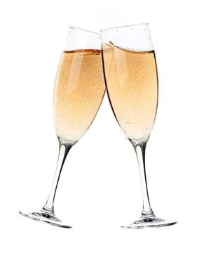 Champagne toast glasses
