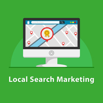 SEO Local marketing in PC monitor