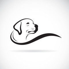 Vector of a dog head design(Labrador Retriever) on white background, Pet. Animals.