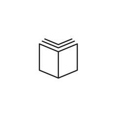 Book icon, vector illustration. Flat design eps 10