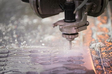 Metalworking cutting with water jet
