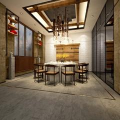 3d render of meeting table
