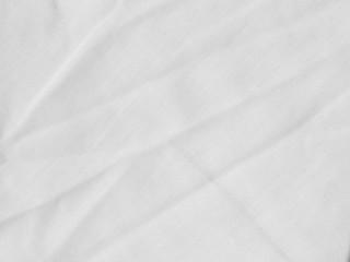 White Crumpled Fabric Texture