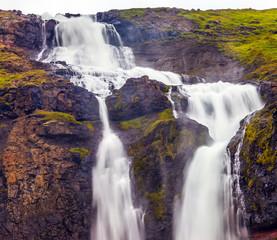 Streams of cascade falls