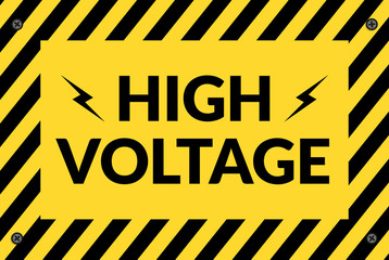 Switchboard high voltage sign illustration for design