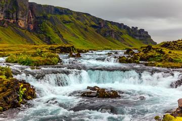 Powerful cascading waterfalls
