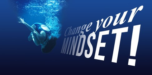 Composite image of change your mindset message on a white