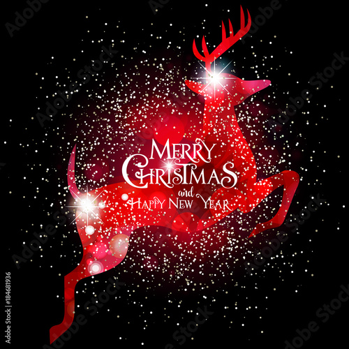 Buon Natale Glitter.Buon Natale Renna Rosso Glitter Stock Image And Royalty Free