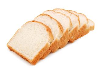Fototapeta sliced bread on a white background obraz