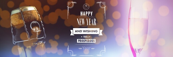 Composite image of happy new year message