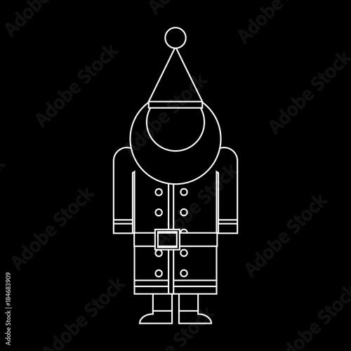 ea83015552d Santa Claus Icon Symbol Design. Vector illustration of Santa silhouette  with xmas hat