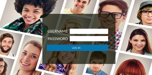 Composite image of login page
