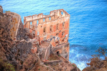 Historical ruins of a castle on the beach of Los Realejos area in Garachio region, in Tenerife - Spain
