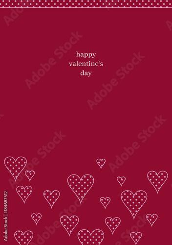 Schlichte Valentinskarte Mit Punktmuster