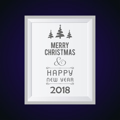 Christmas card with dark purple background