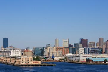 Boston Skyline from Freight Harbor