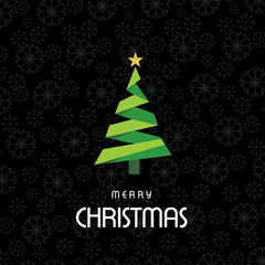 Christmas card with pattern background vector dark