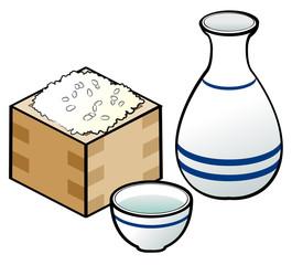 日本酒と枡