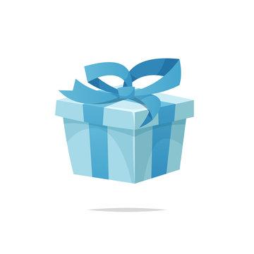 Cartoon gift box vector isolated