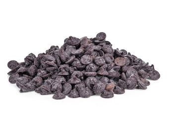 chocolate chip isolated on white background
