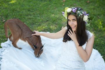 bride and lynx