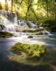 Fototapete - Huai Mae Khamin waterfall