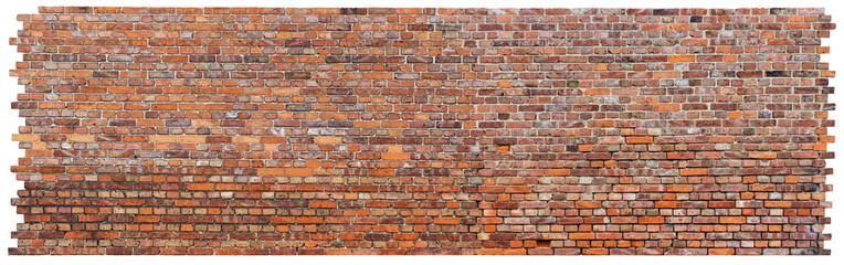Strukturierte Backsteinmauer -  Weißer Hintergrund