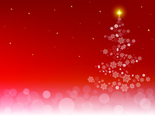 Abstract winter decorative Christmas holidays background with snowflakes and bokeh lights. Vector Illustration.