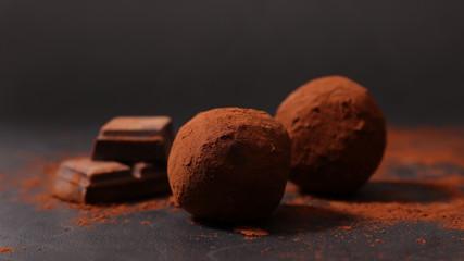 Fototapeta homemade chocolate truffle obraz