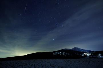 ふたご座流星群と蓼科山