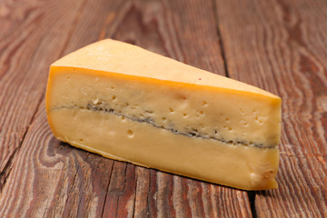 portion of morbier cheese