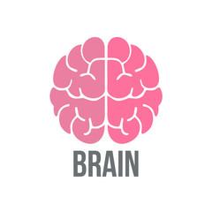 Brain Logo design. Think idea concept. Thinking brain icon logo. Vector stock.