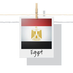 African country flag collection with photo of Egypt flag , vector , illustration