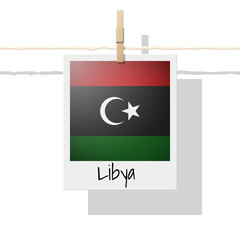 African country flag collection with photo of Libya flag , vector , illustration
