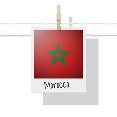 African country flag collection with photo of Morocco flag , vector , illustration