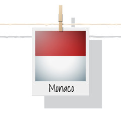 European country flag collection with photo of Monaco flag , vector , illustration