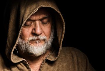 Gesicht eines Mönches im Mittelalter