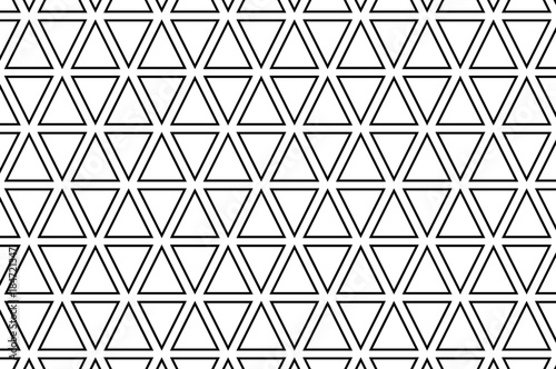 Triangle - black and white vector pattern, Abstract