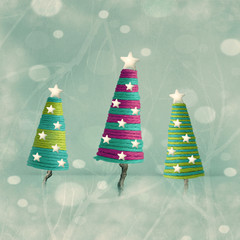 Foto op Canvas Surrealisme Cones shape Christmas Trees