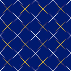 Seamless background for your designs. Modern ornament whith white and golden lines. Geometric abstract pattern
