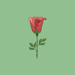 Rose flower sign