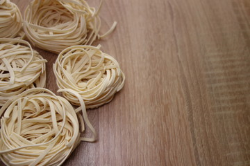 Fresh pasta on a table