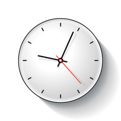 Clock icon in flat style, timer on white background. Business watch. Vector design element for you project